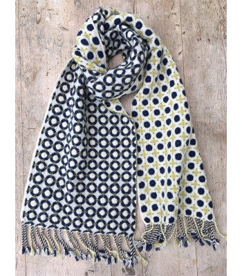 Deflected Doubleweave Scarf - Circles