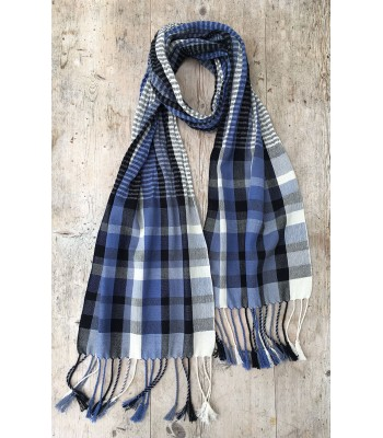 Cotton/Stainless Steel Scarf - white