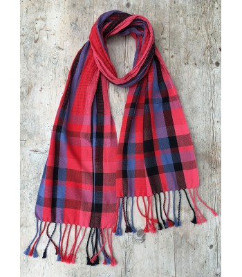 Cotton/Stainless Steel Scarf - red